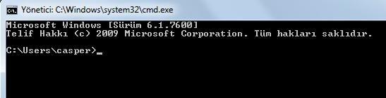 cmd komutu ile program çalıştırma1