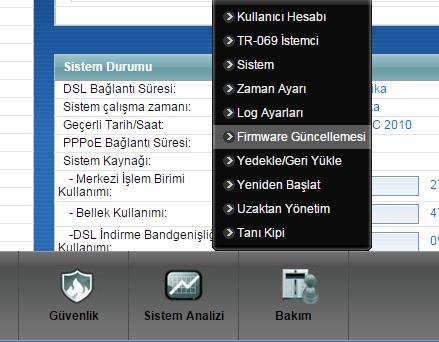 firmaware güncellemesi nasıl yaparım