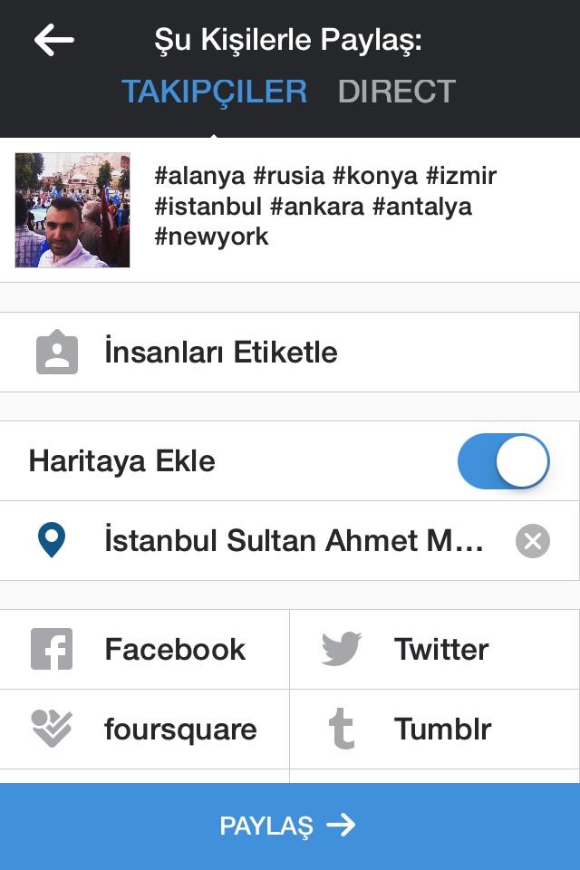 instagram resim paylaşımı