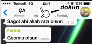 whatsapp grup mesajı