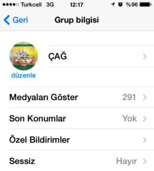 whatsapp grup mesaj bildirimi