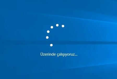 windows 10 üzerinde çalışıyoruz hatası