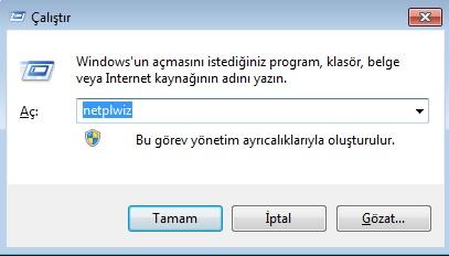 windows 10 açılış parolasını kaldırma
