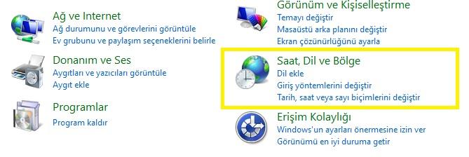 windows 10 bölge dil ayarı