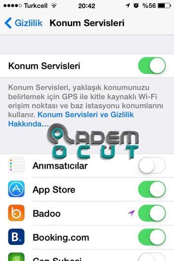 Iphone 8 gps takip