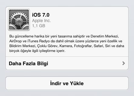ios güncellemesi