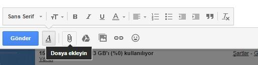mail adresinde dosya ekle