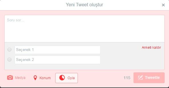 tweet poll butonu