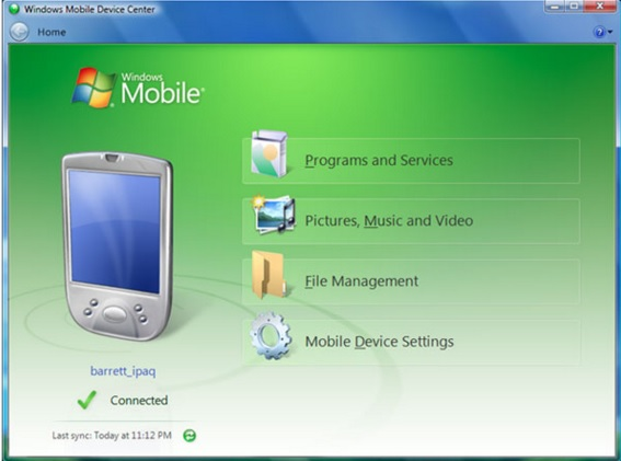 windows mobile ActiveSync