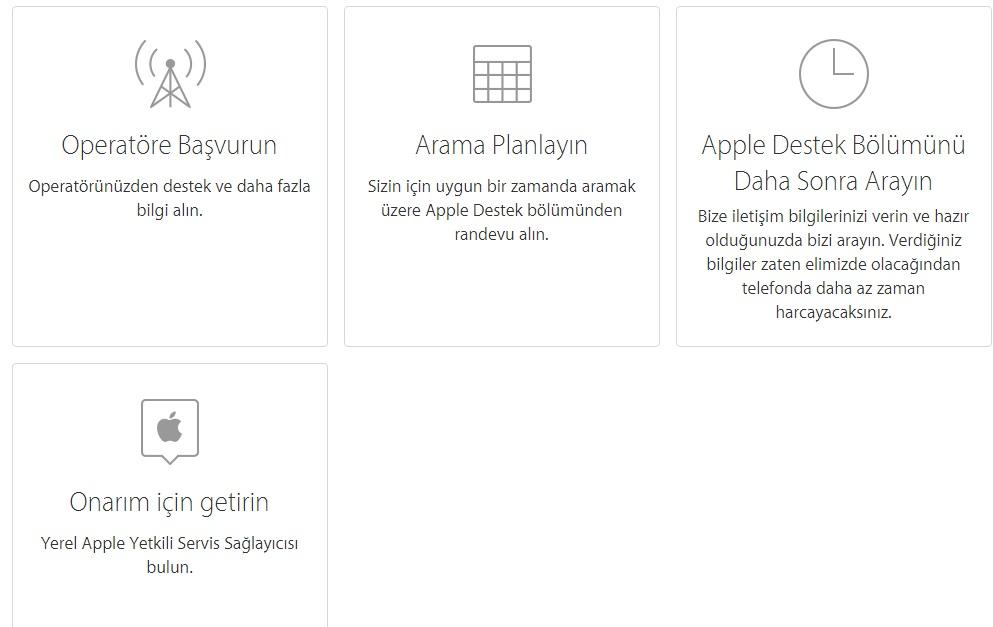 apple online destek