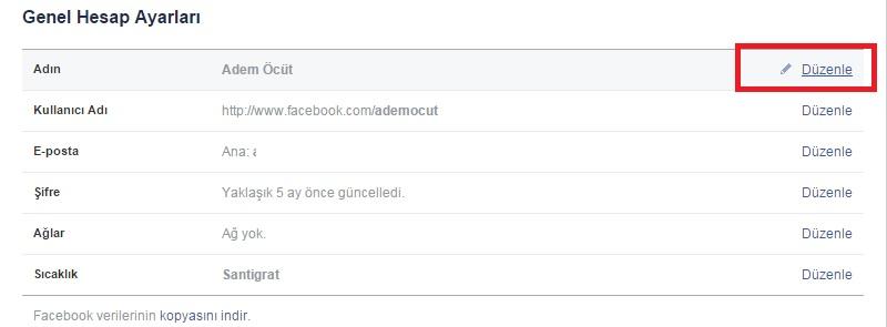 facebook parantez isim