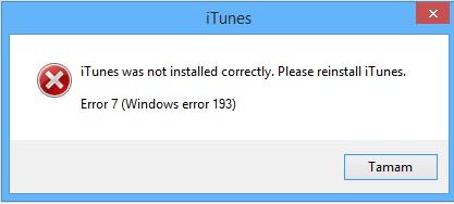 itunes error 7