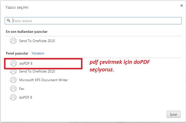 dopdf - pdf çevirme