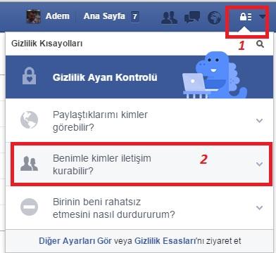 facebook mesaj butonu kaldırma