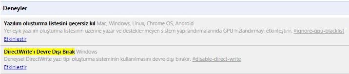 google chrome türkçe karakter sorunu