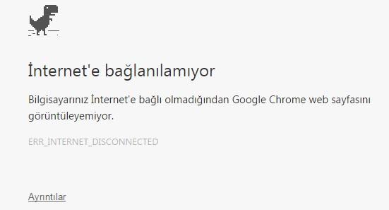 err_internet_disconnected hatası
