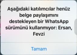 whatsapp belge paylaşma