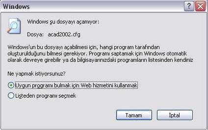Windows şu dosyayı açamıyor sorunu