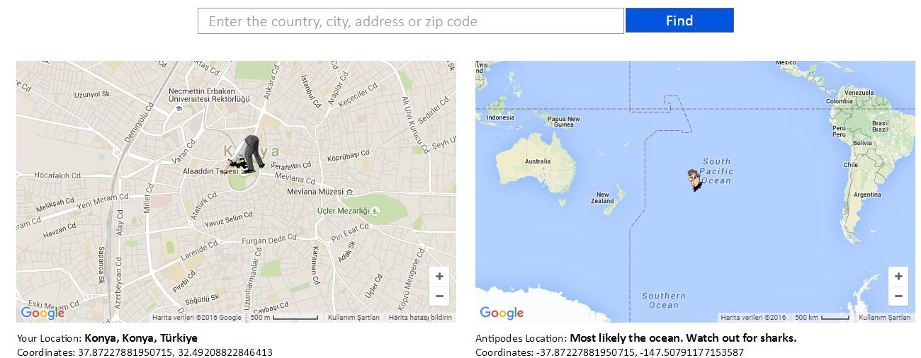 Antipodes Map harita