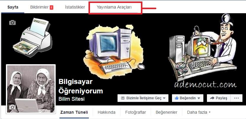 facebook yayınlama araçları