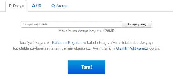 Ve nasıl virüs dosyaları kontrol etmek için