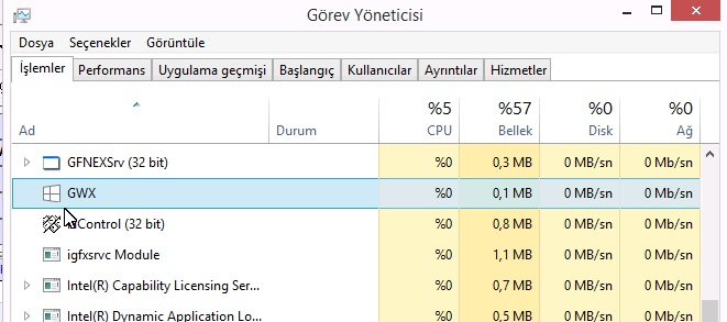 windows 10 görev yöneticisi