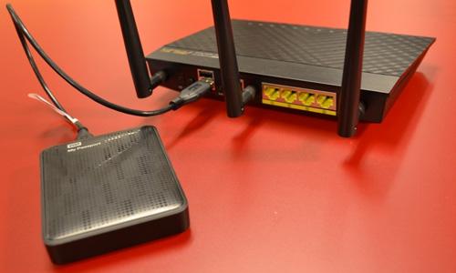 adsl modeme usb bellek bağlama