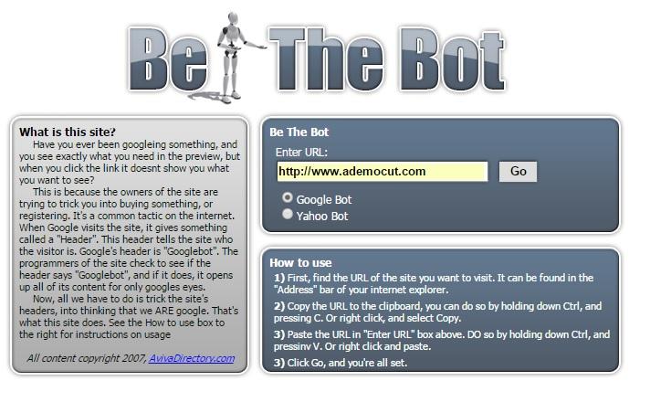 google bot - yahoo bot