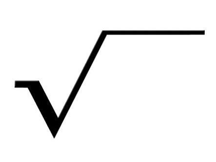 karakök işareti - karakök sembolü