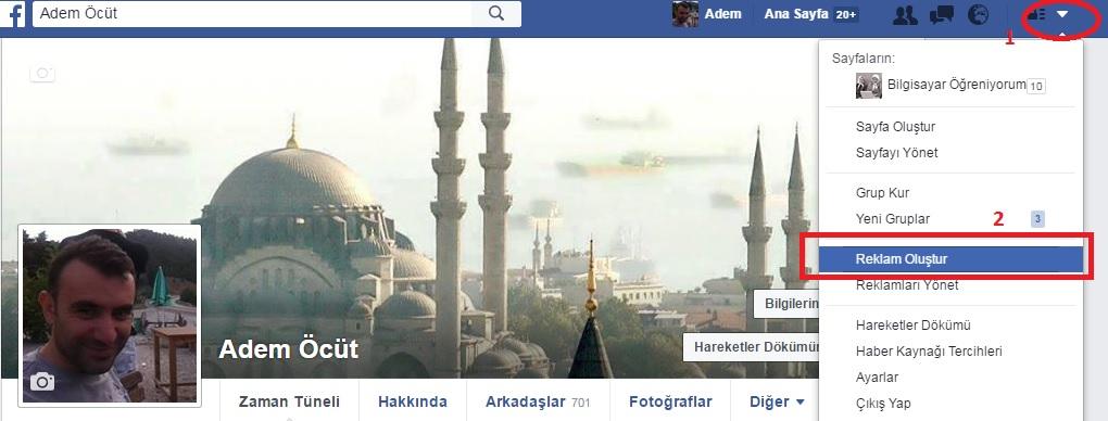 facebook sponsorlu sayfa reklamı