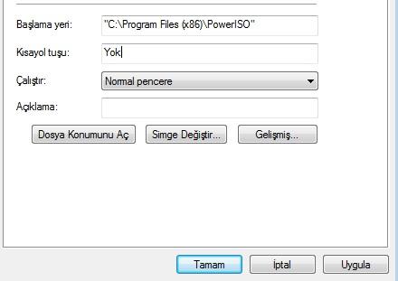 program klavye kısayolu oluşturma1
