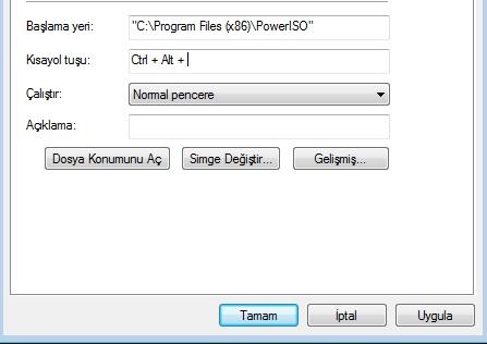 program klavye kısayolu oluşturma2