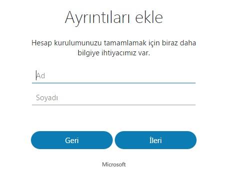 skype hesabını oluşturma