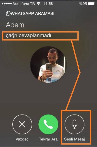 whatsapp sesli mesaj bırakma