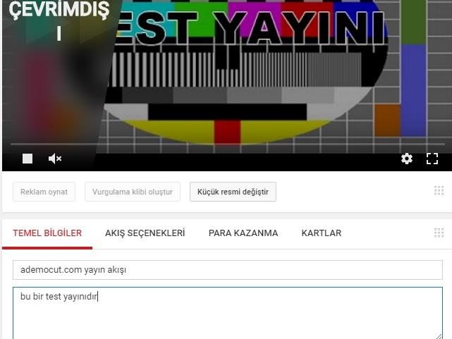 youtube yayın akışı hazırlama