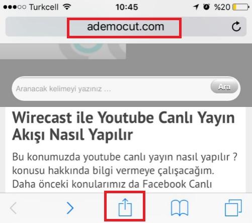 half off new design reputable site WebSite Kısayolu İphone Ana Ekrana Nasıl Eklenir? | Sistem ...