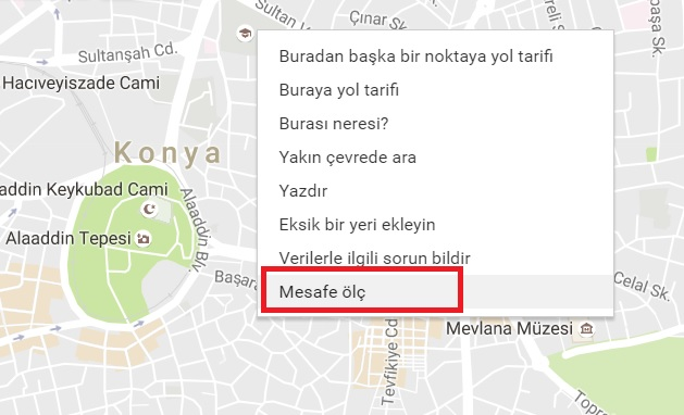 google-maps-mesafe-olcumu