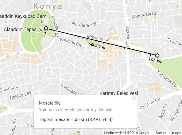 google-maps-mesafe-hesaplama