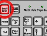 Klavye'de yanan led ışıkları ne anlama gelir?