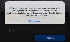 { Çözüm} Turkcell Tv+ Maximum cihaz sayısına ulaştınız