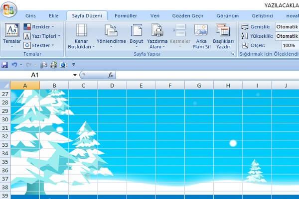 Excele Arka Plan Tema Değiştirme Sistem Ve Ağ Uzmanlığı
