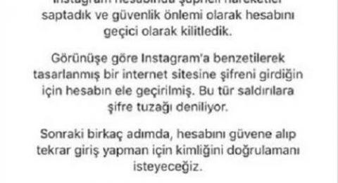 """instagram """"hesabın geçici olarak kilitlendi"""" sorunu"""