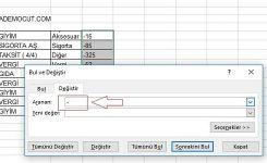 Excelde Negatif { – } sayıyı Pozitif { + } sayıya nasıl çevrilir?