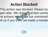 instagram action blocked hatası ve çözümü