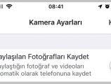 Facebook hikayeleri galeriye otomatik kayıt etmeyi engelleme