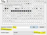 Klavyede 1 bölü 10 { ⅒ } işareti nasıl yapılır