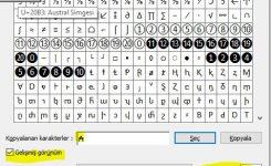 Klavyede Austral { ₳ } işareti nasıl yapılır